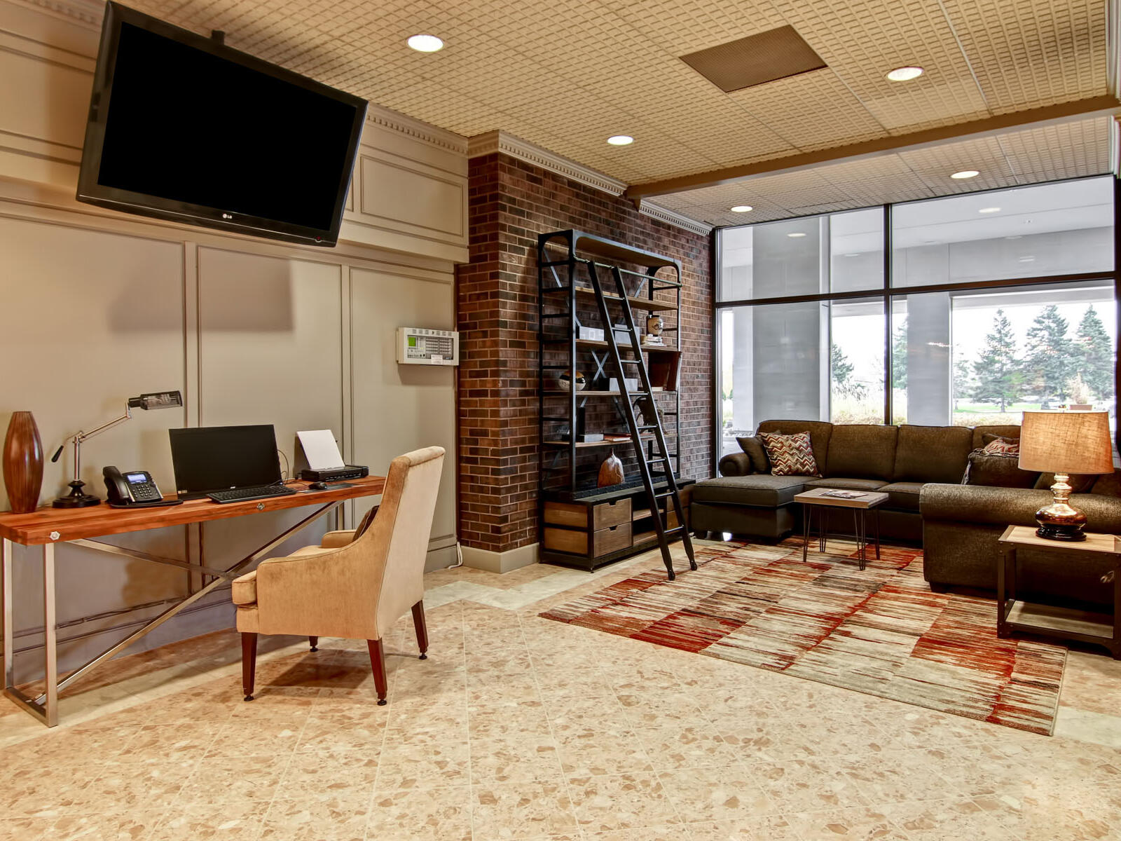 spacious business center with nice view at The Inn of Waterloo
