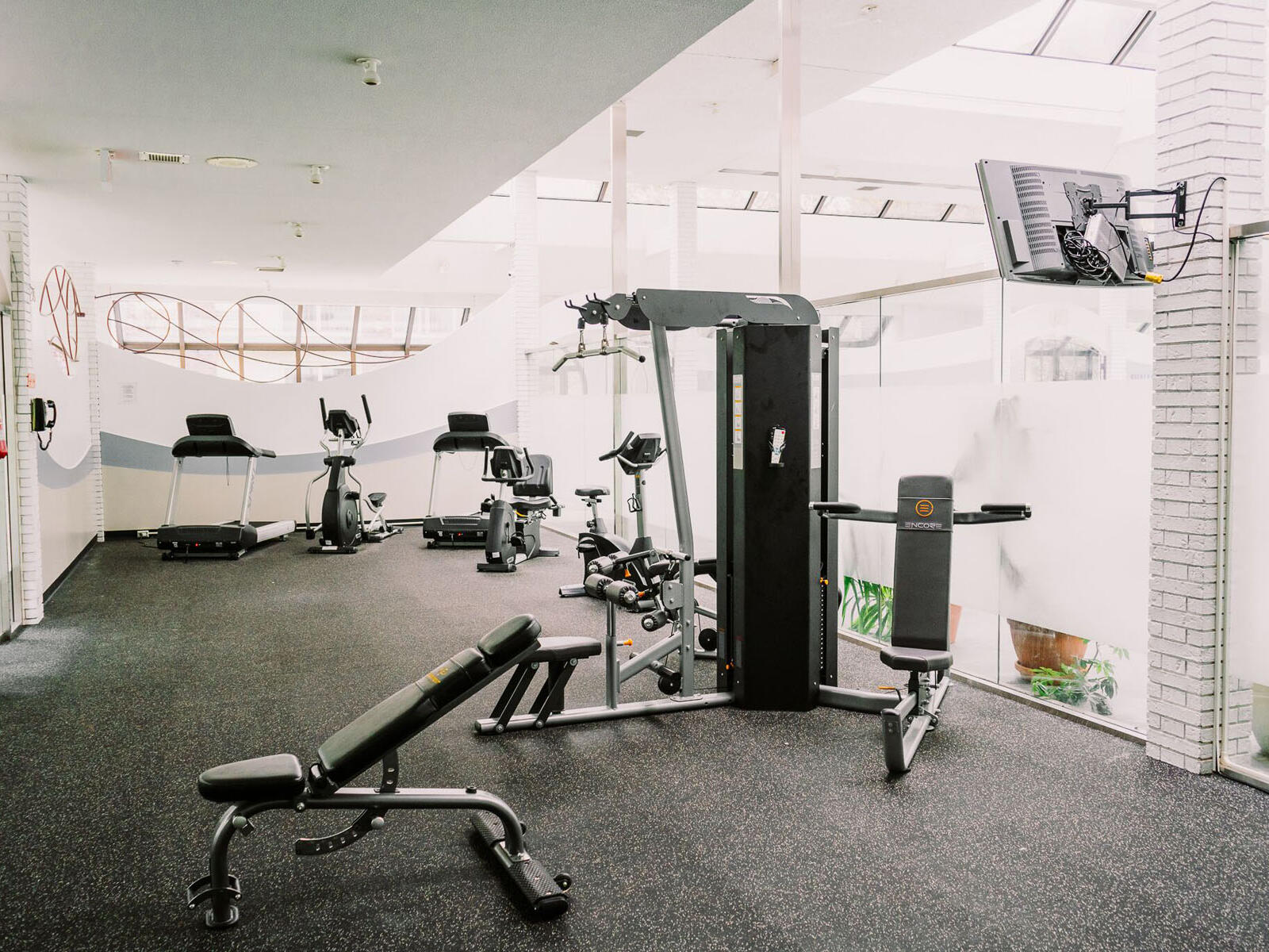 fitness center with updated equipment at The Inn of Waterloo