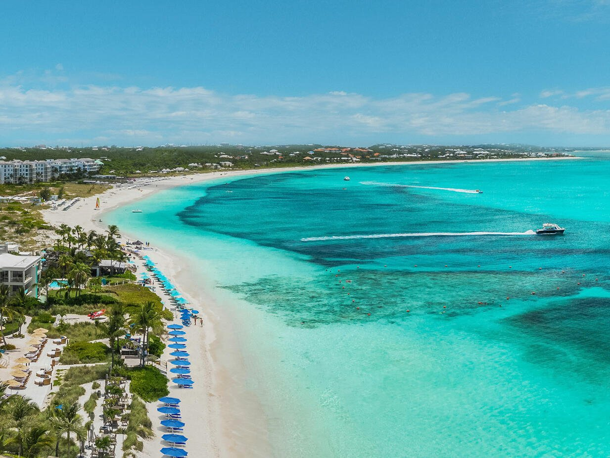 435' of Grace Bay Beach at Windsong Resort On The Reef