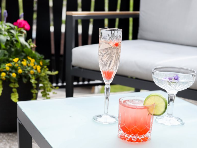 Drinks on the patio at Hotel Earl