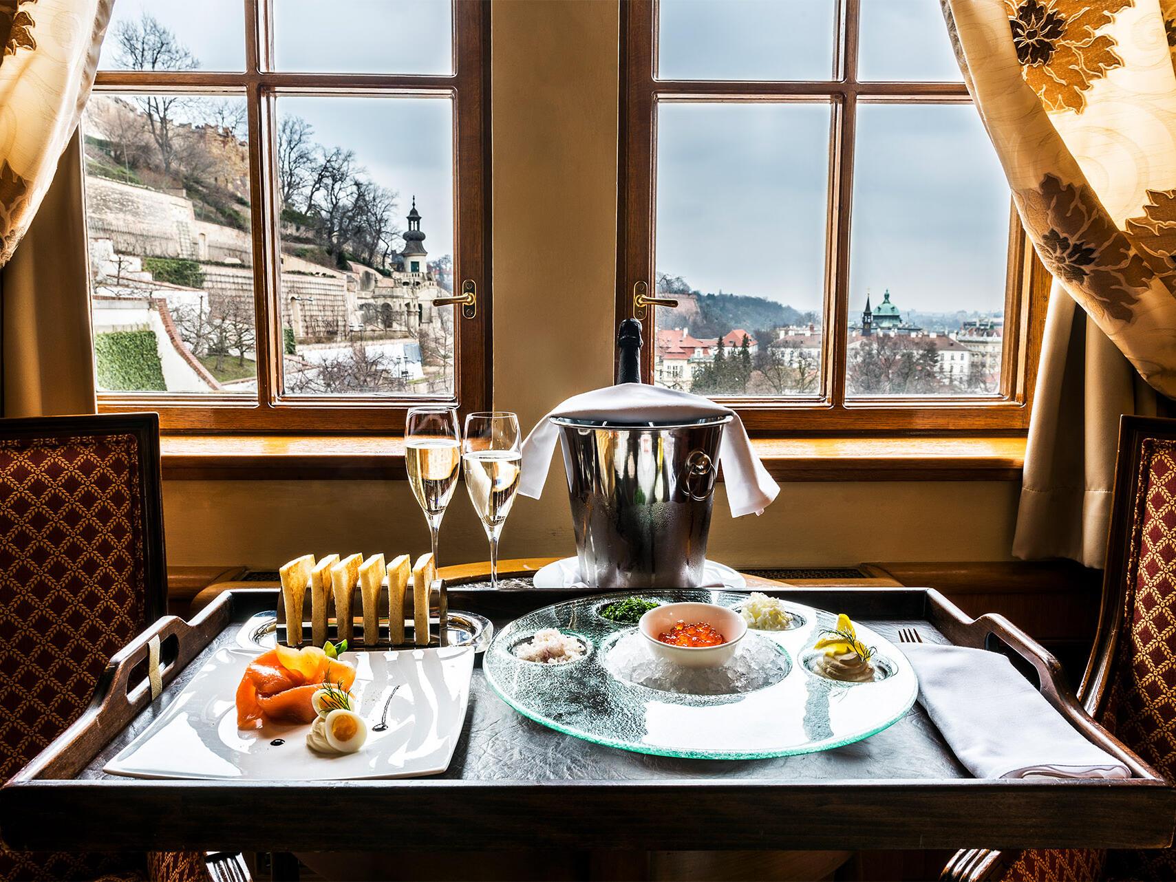 Breakfast at Golden Well Hotel Prague