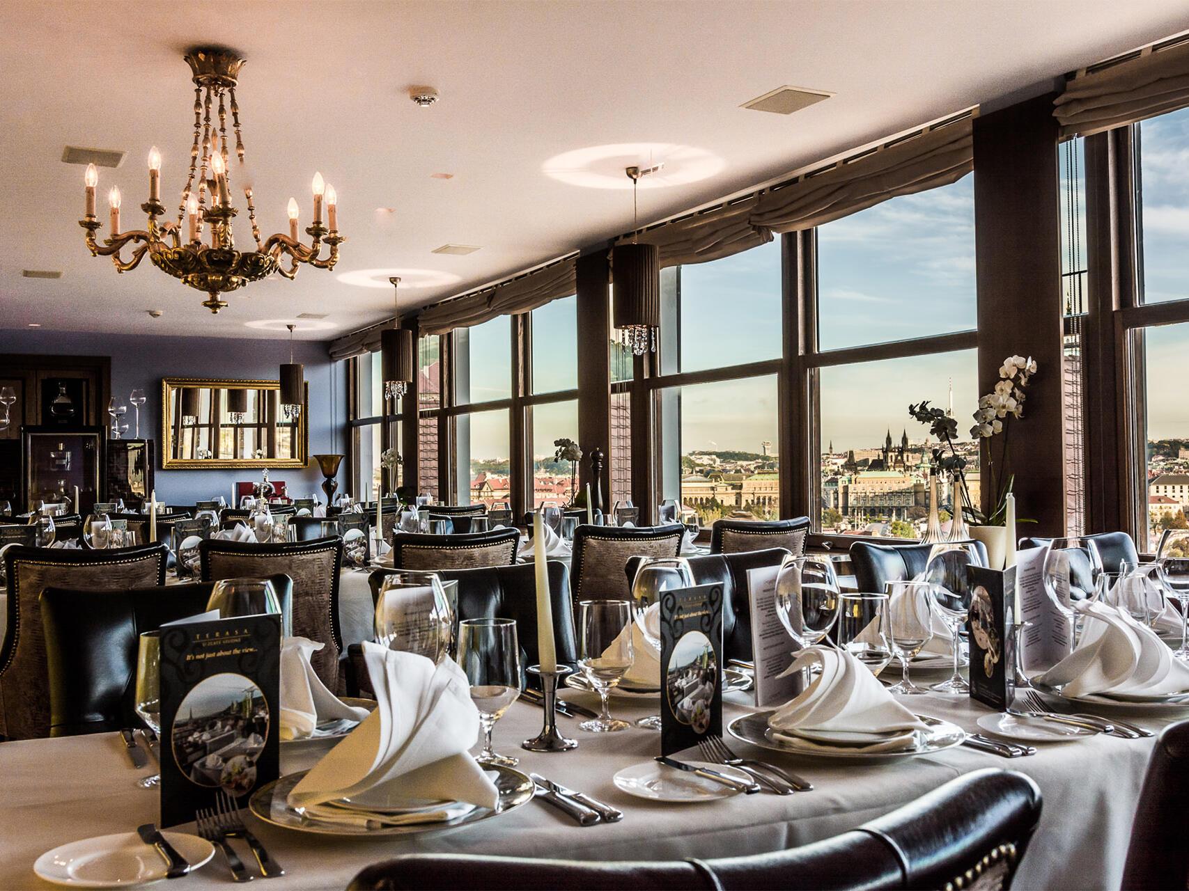 Restaurant at Golden Well Hotel Prague