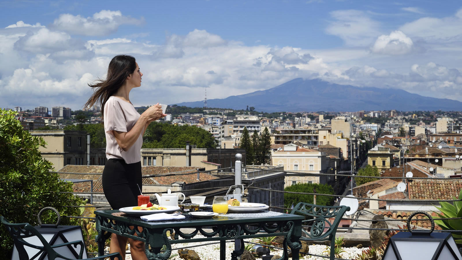 Roof Breakfast | Palace Catania