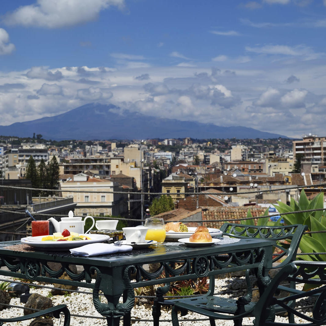 Terrace breakfast | Palace Catania