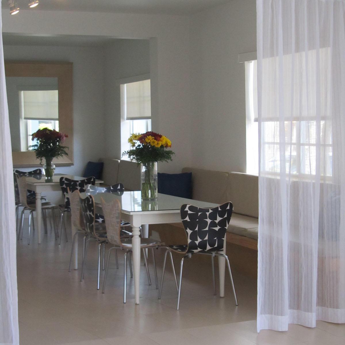 Breakfast area curtain