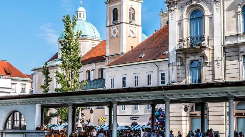 Ljubljana - view of local market