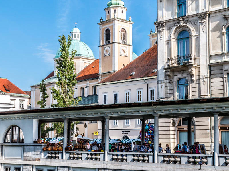 Ljubljana - view of local market