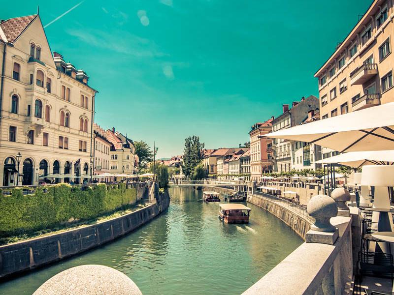 Ljubljanica river - old town
