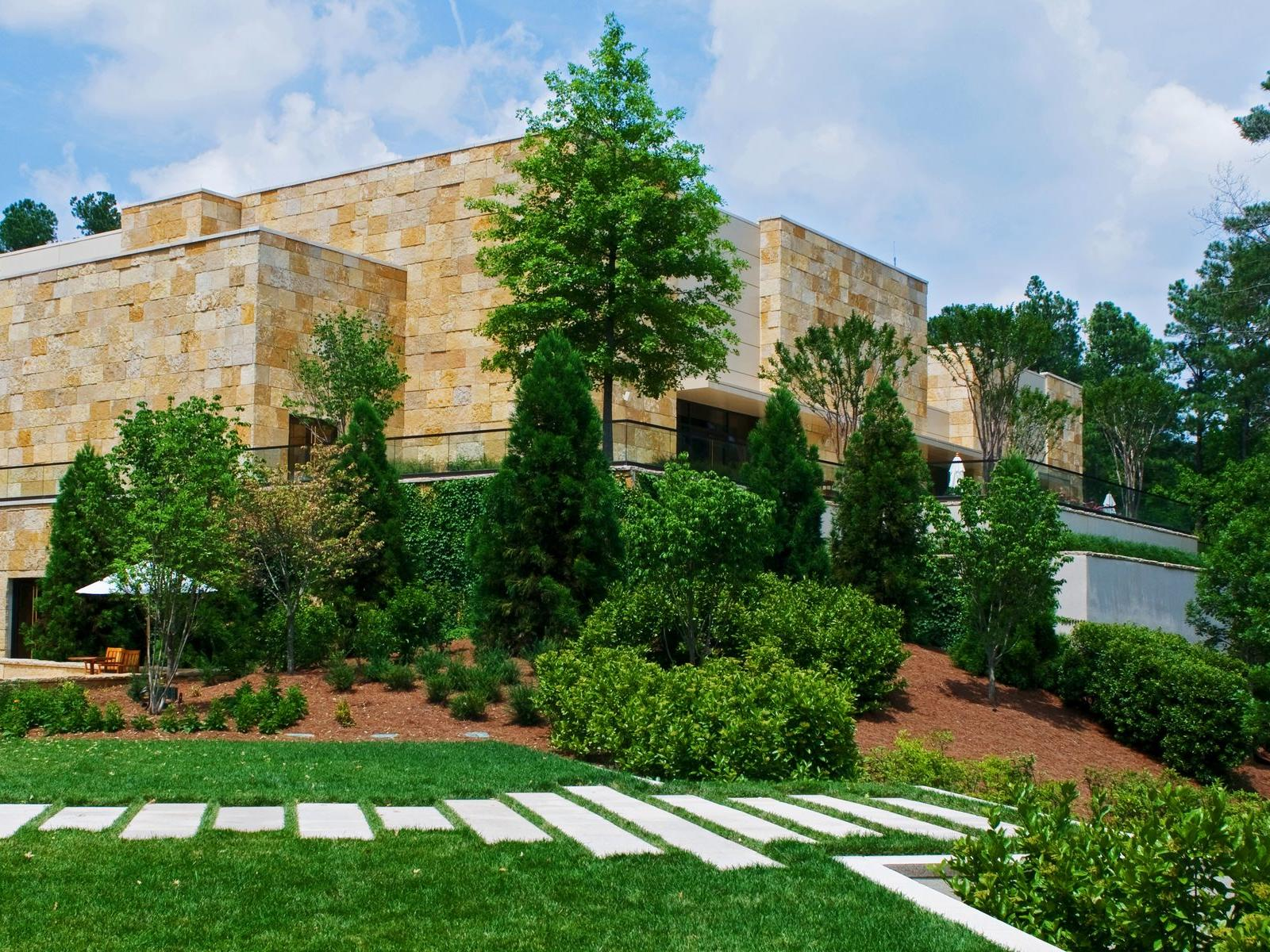 outdoor space for wedding with foliage