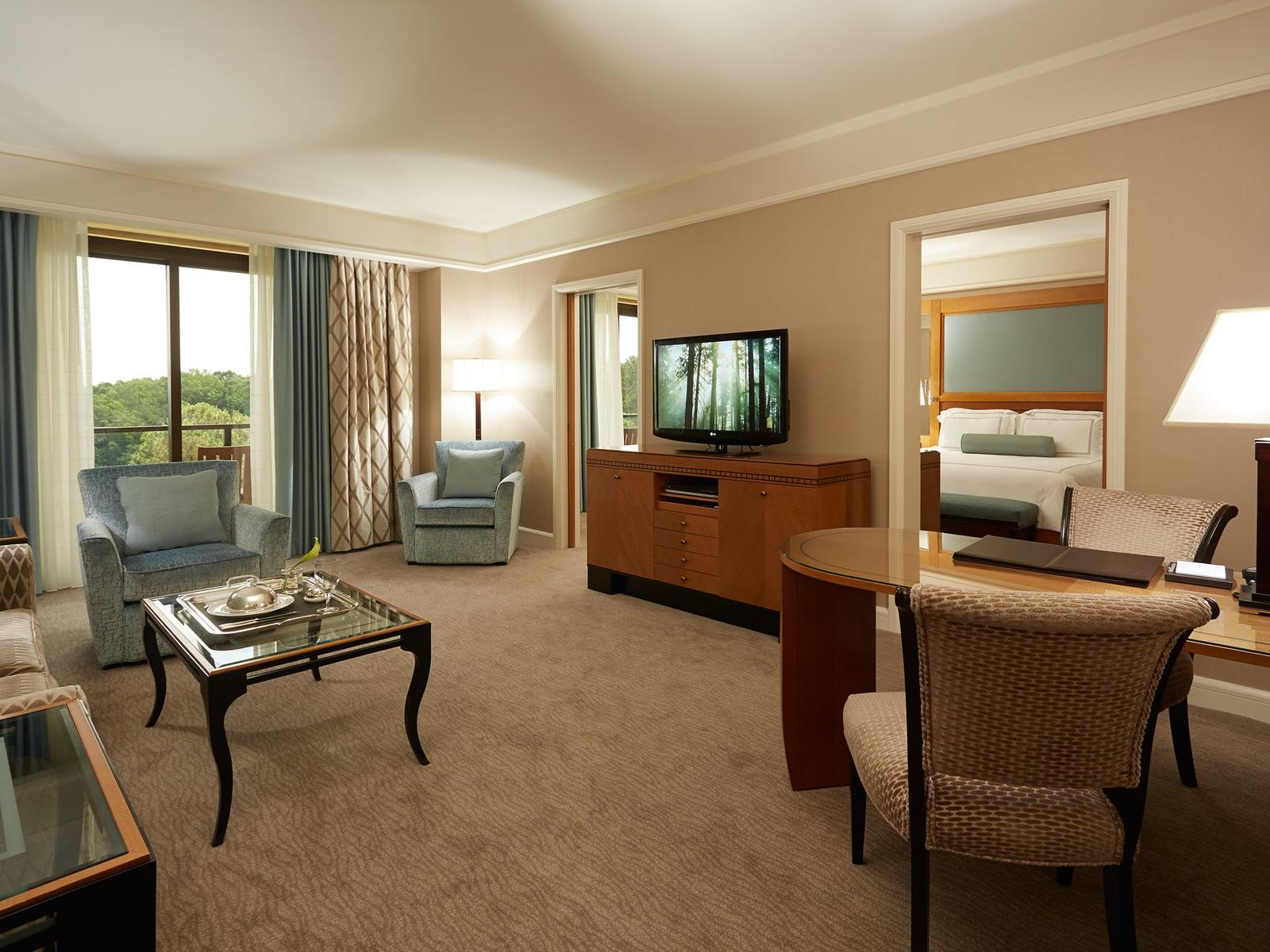 living room of hotel suite
