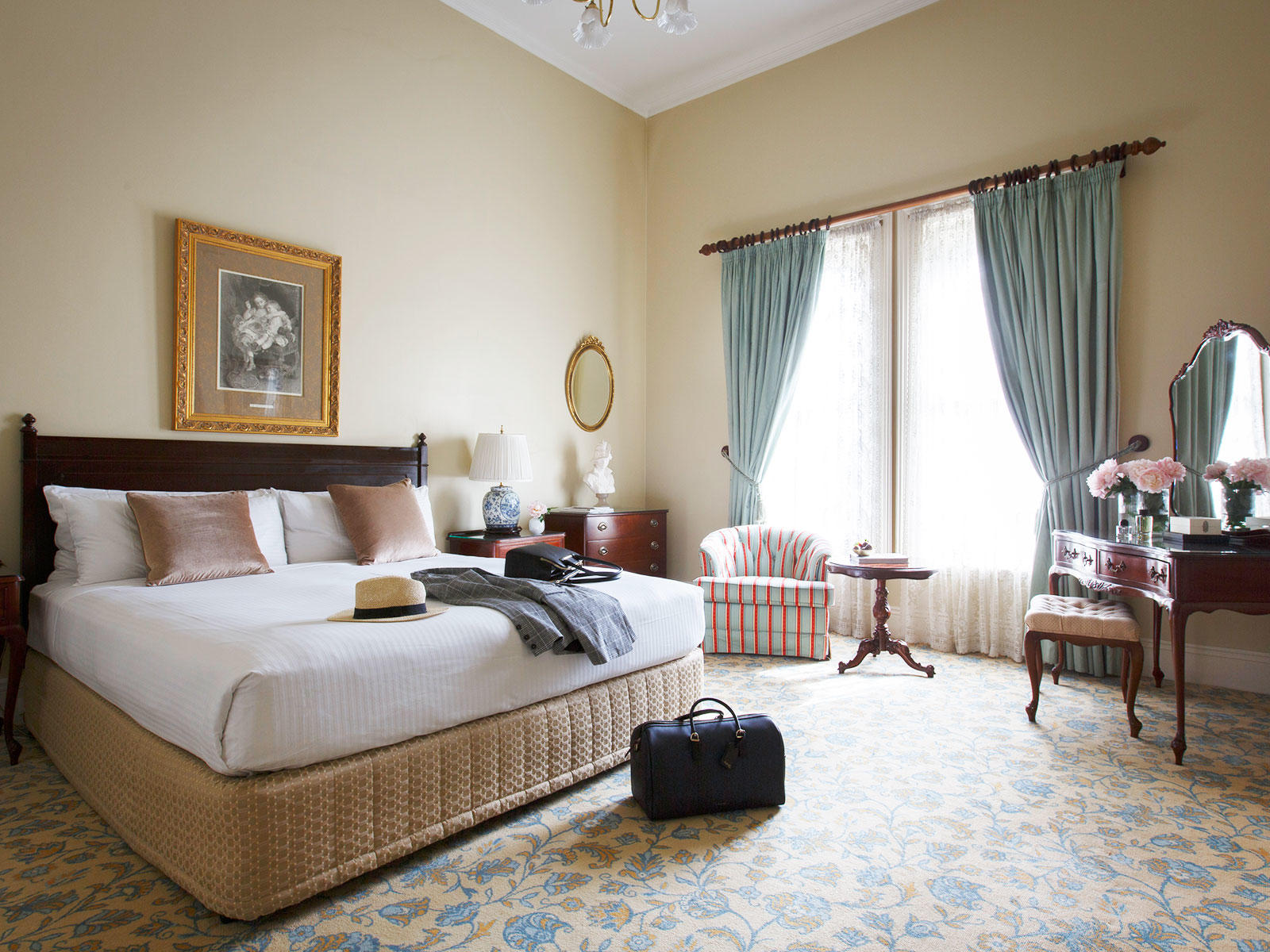 Victorian Suite Bedroom at The Hotel Windsor Melbourne