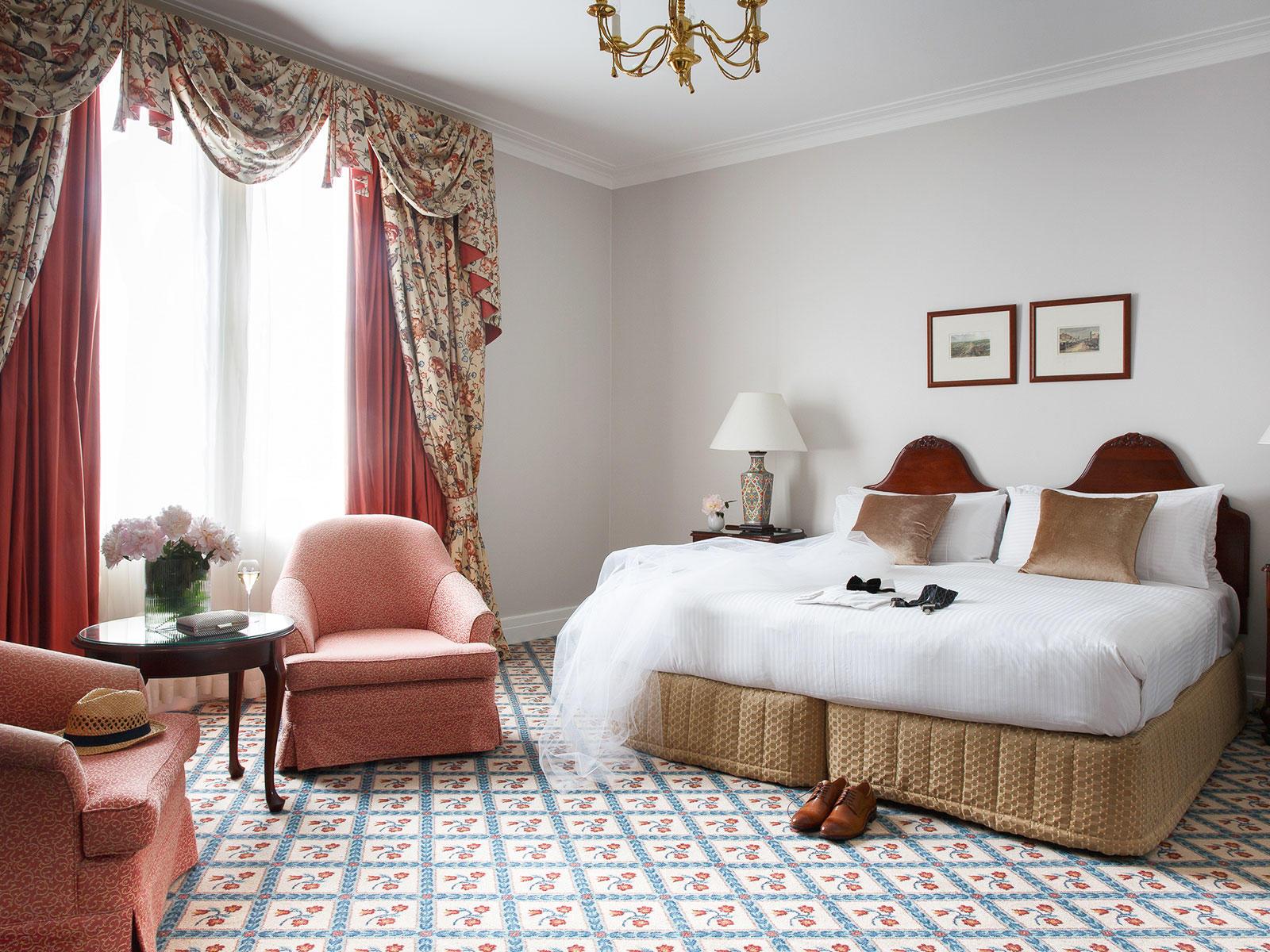 Windsor Suite Bedroom at The Hotel Windsor Melbourne