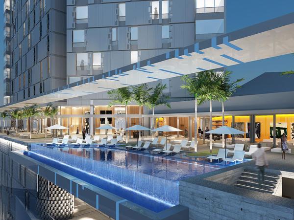 Pool at Noom Hotel Abidjan Plateau