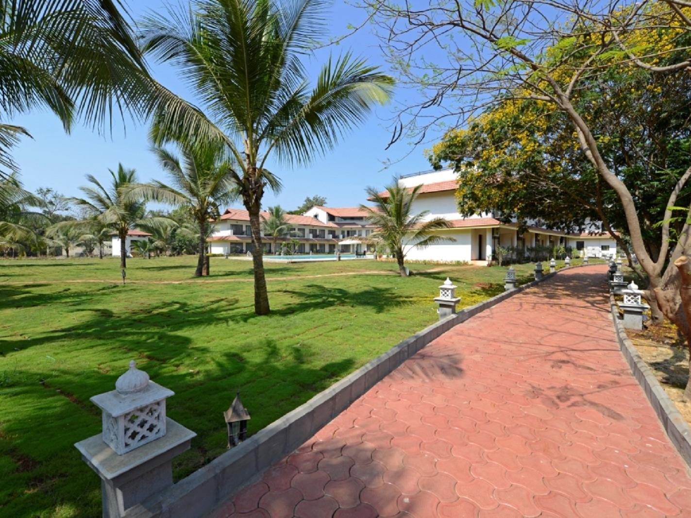 Outdoor Walkway at U Tropicana Alibaug