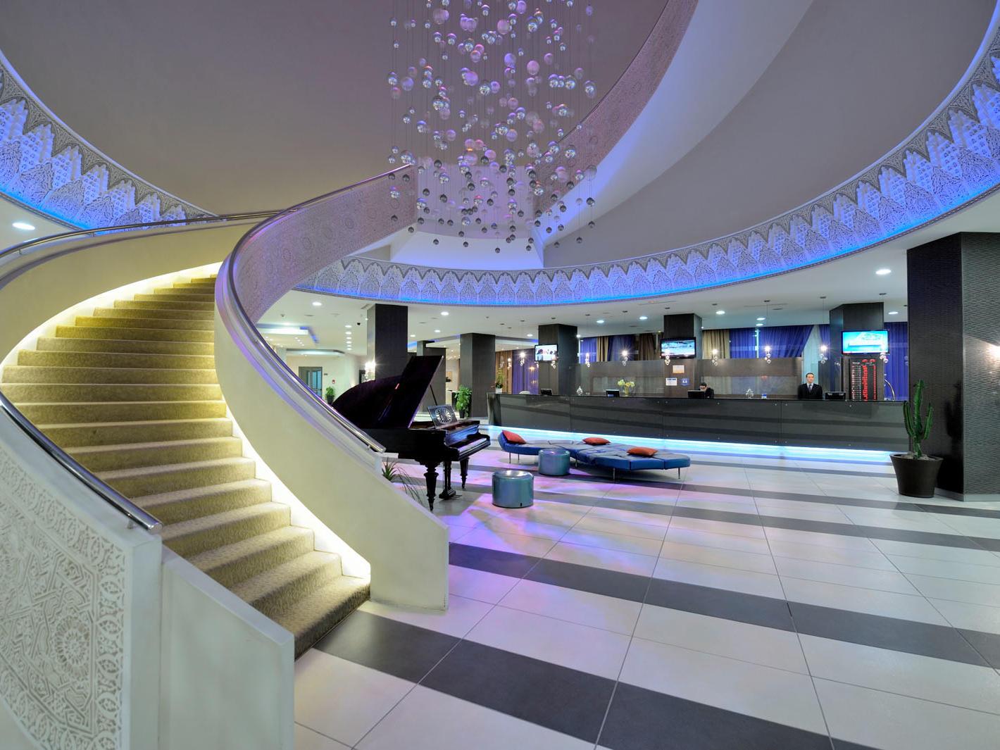 Lobby at Kenzi Solazur Hotel in Tangier, Morocco