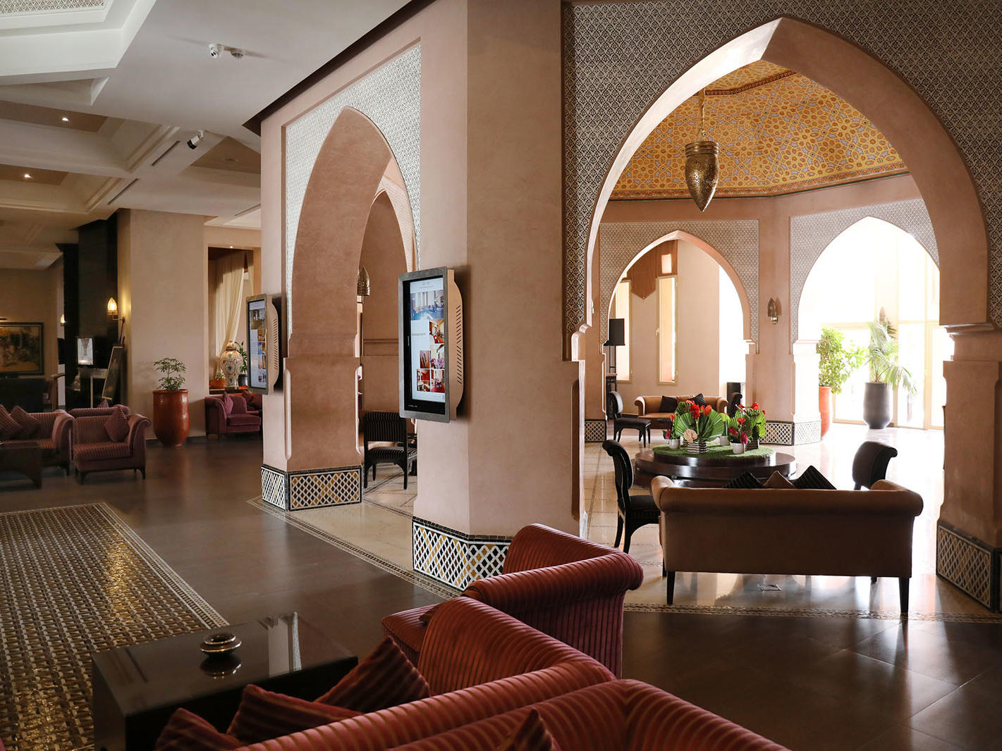 Lobby at Kenzi Menara Palace in Marrakesh, Morocco