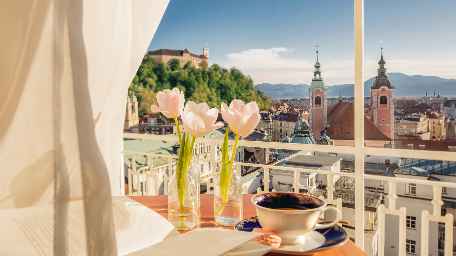 Castle view at Union Hotels Collection in Ljubljana