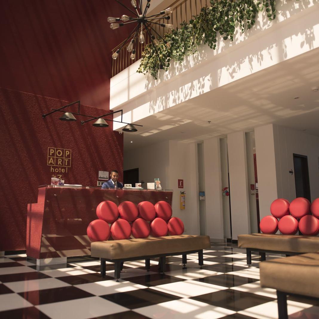 Lobby Hotel POP ART Tocancipá