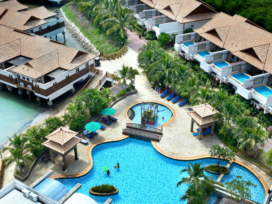 Grand Lexis Port Dickson Resort Hotel Water Chalet Pool Malaysia