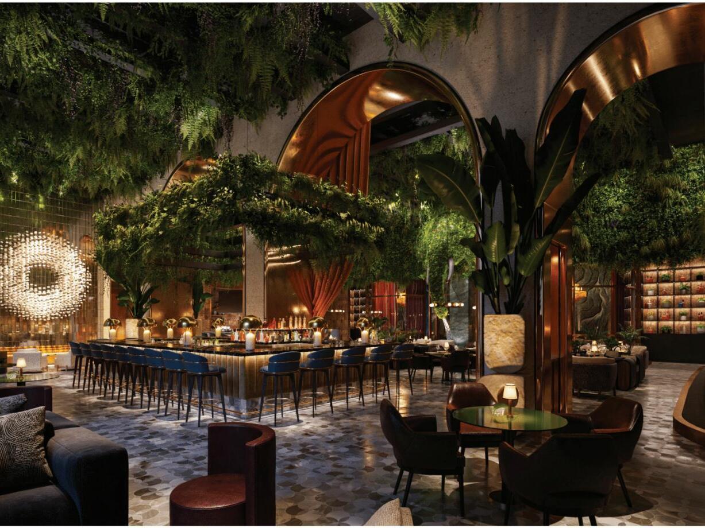 Bar & dining area of a restaurant in Dream Doha Qatar