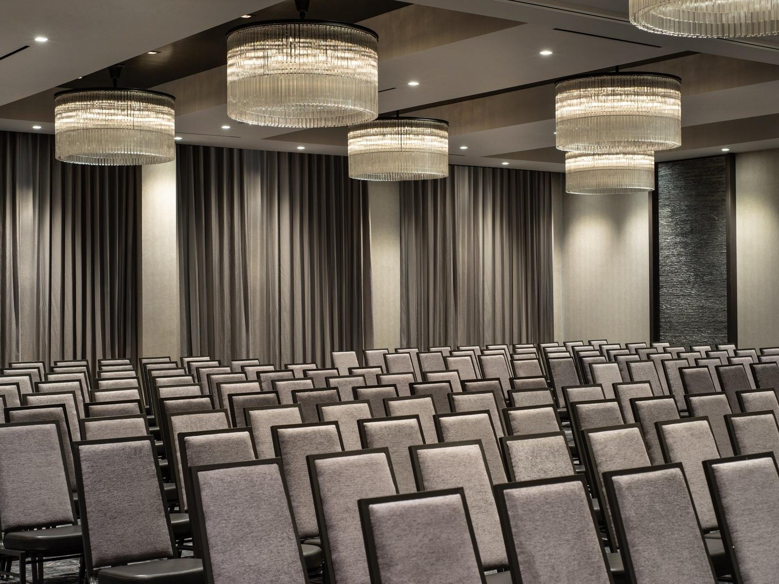 Meeting space set theater style