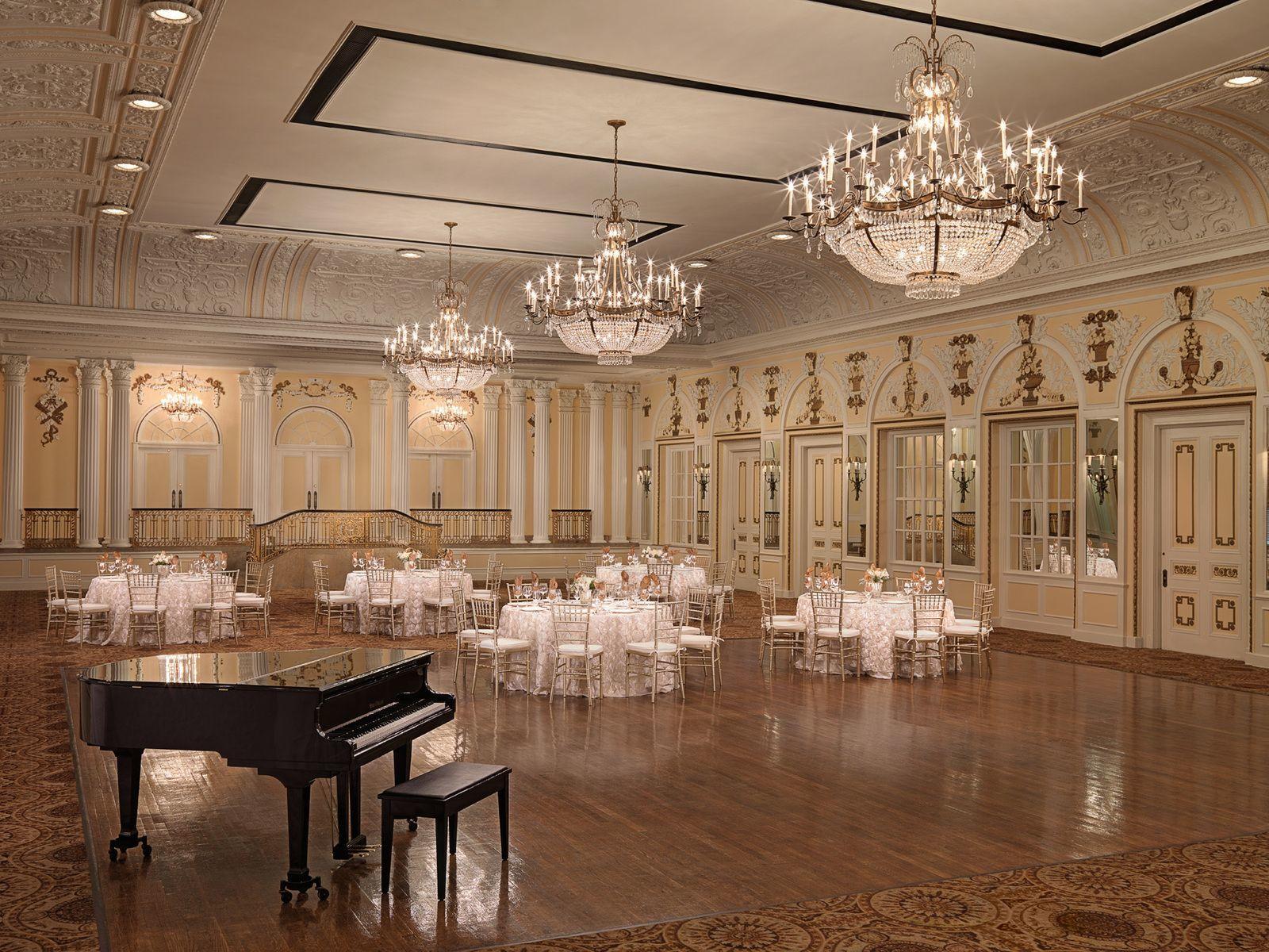 Continental Ballroom with grand piano