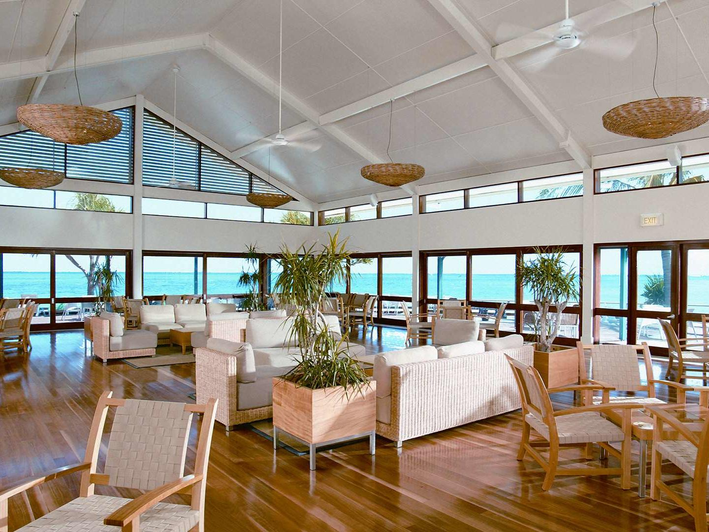Pandanus Lounge at Heron Island Resort in Queensland, Australia