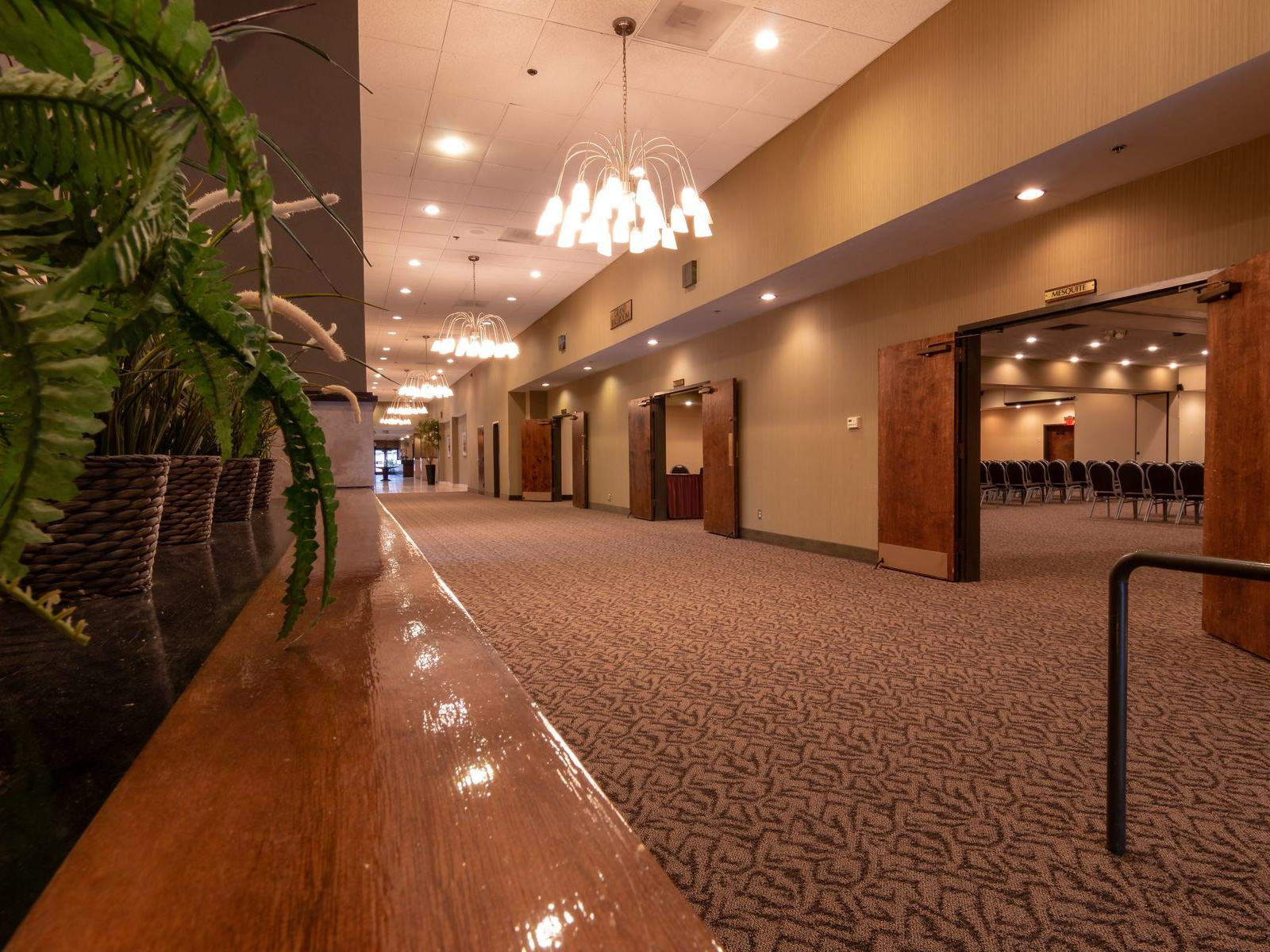 Hallway view of multiple ballrooms