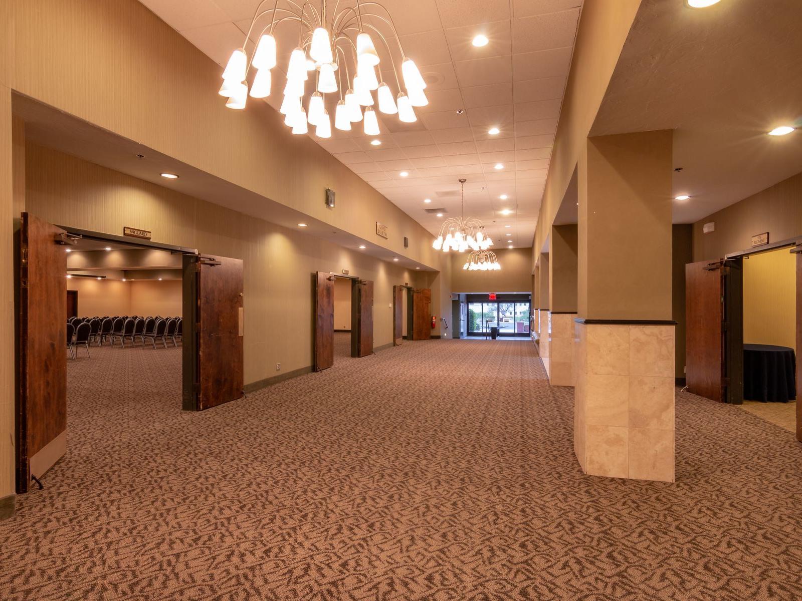 Ballroom foyer and exhibit space.