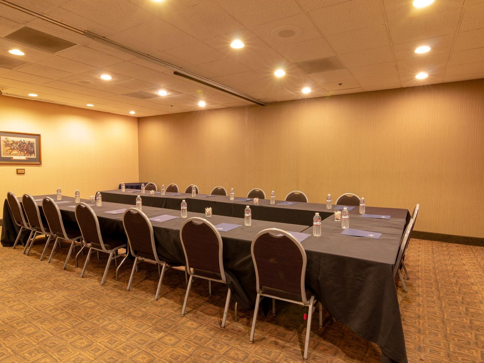 Conference room with U-shaped table