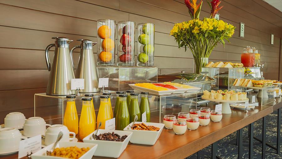 Foyer - breakfast station