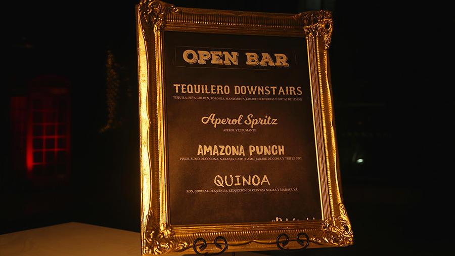 terrace - open bar menu