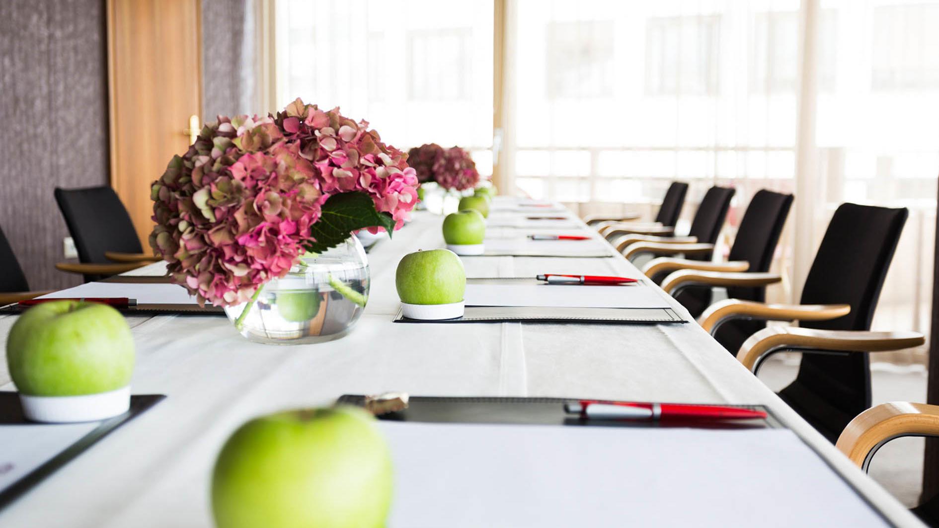 Conference room at uHotel in Ljubljana