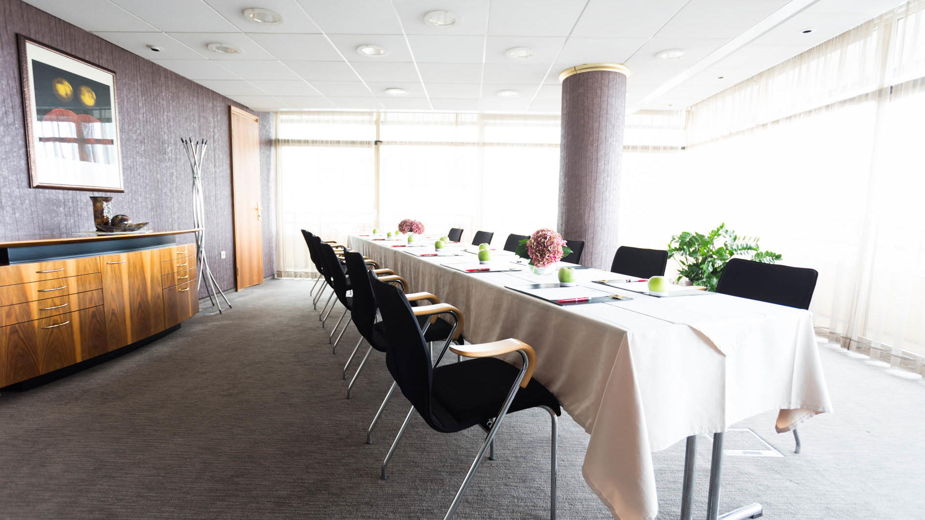 Conference or meeting room at uHotel in Ljubljana