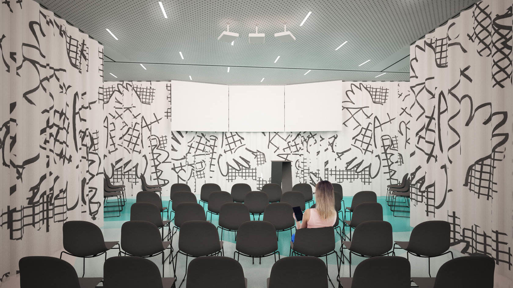 Theater shape conference or meeting room at Hotel Lev in Ljublja