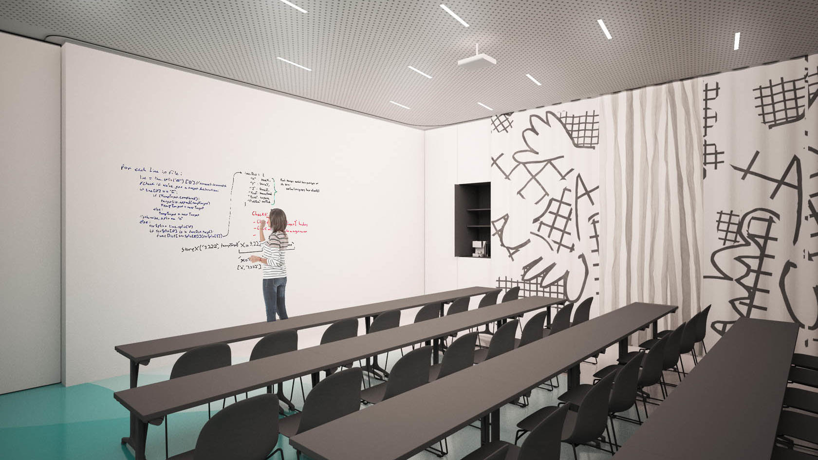 Classroom shape conference or meeting room at Hotel Lev in Ljubl
