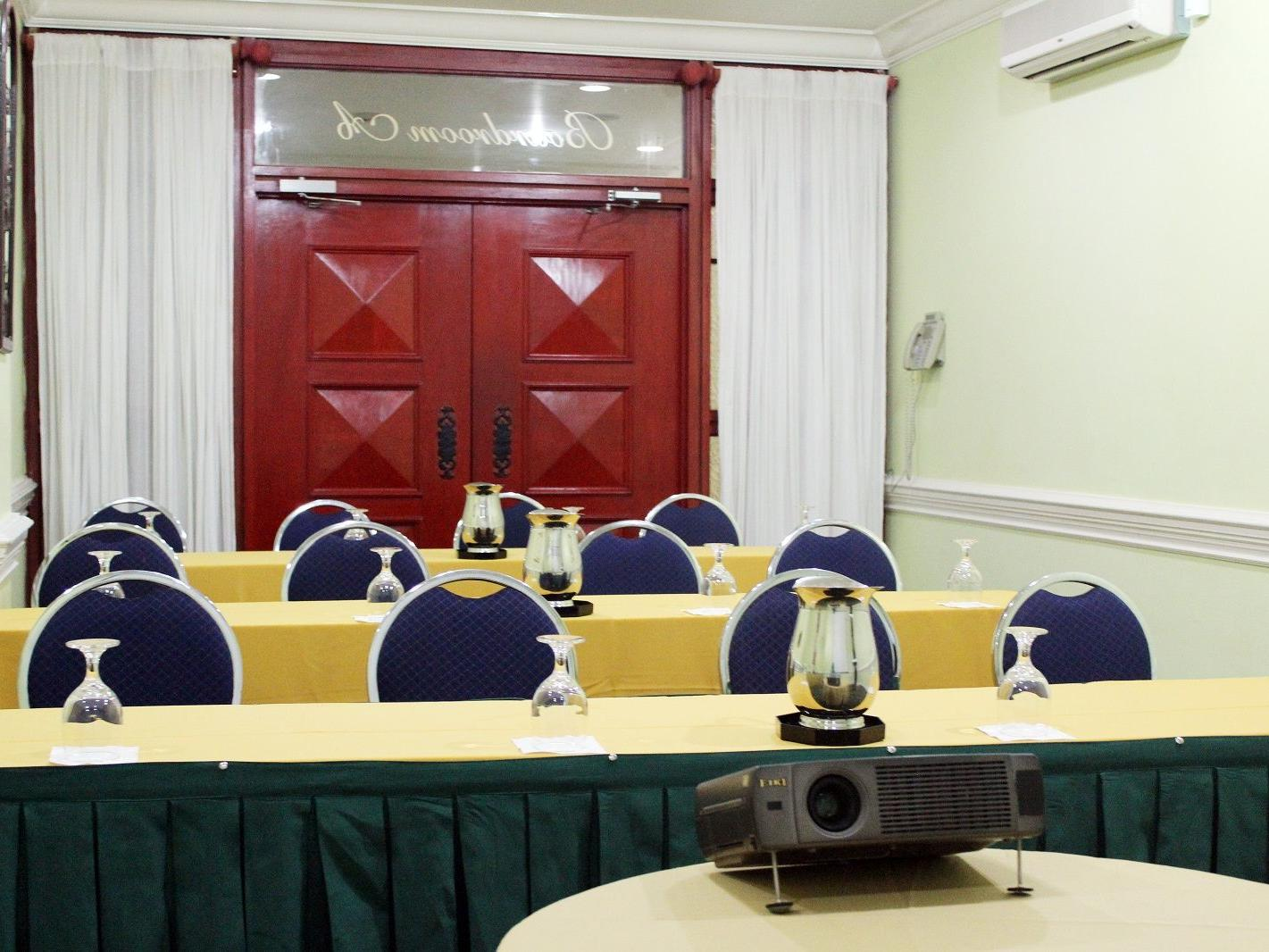 meeting room with tables