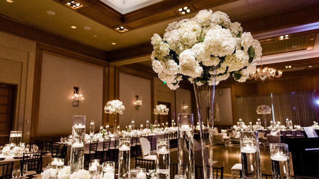 ballroom with flowers
