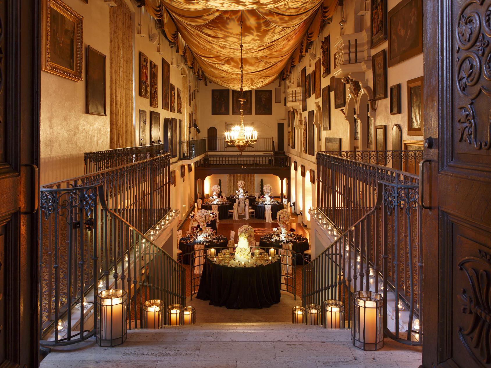 staircase into ballroom