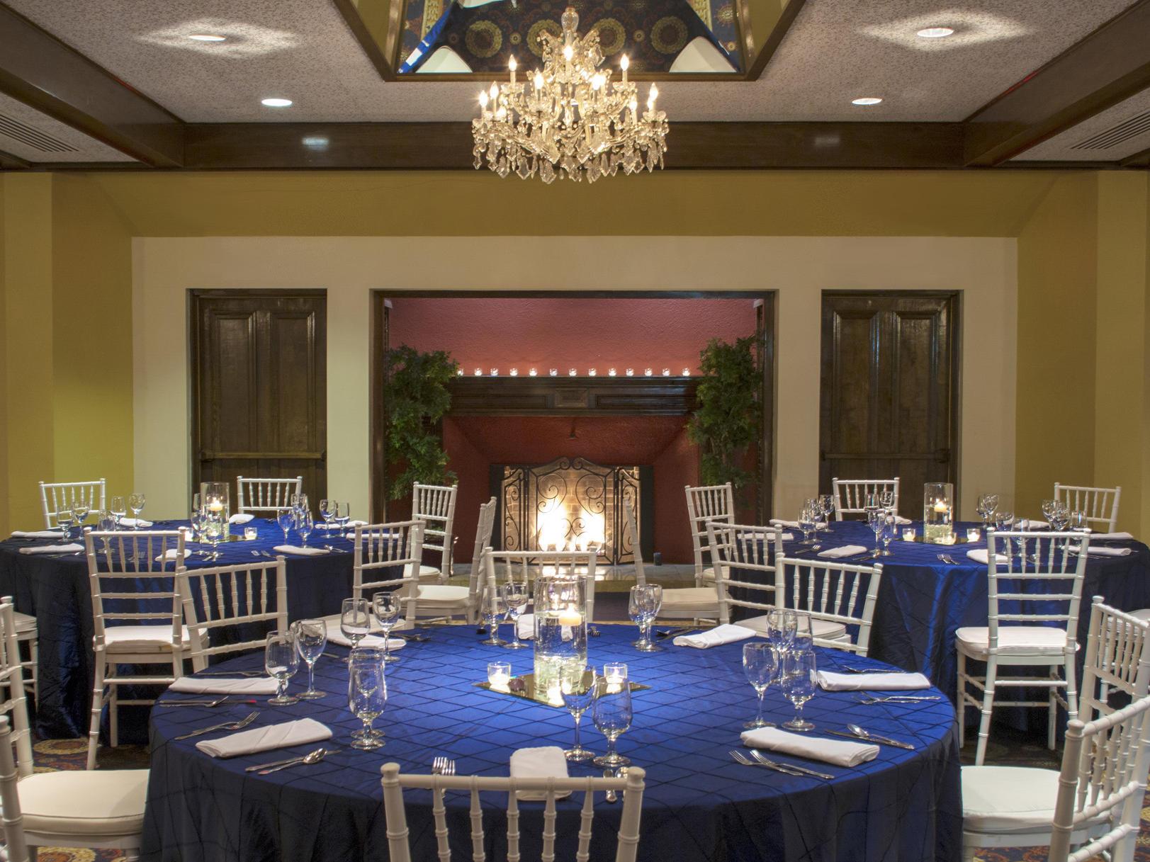 elegant venue with tables set up