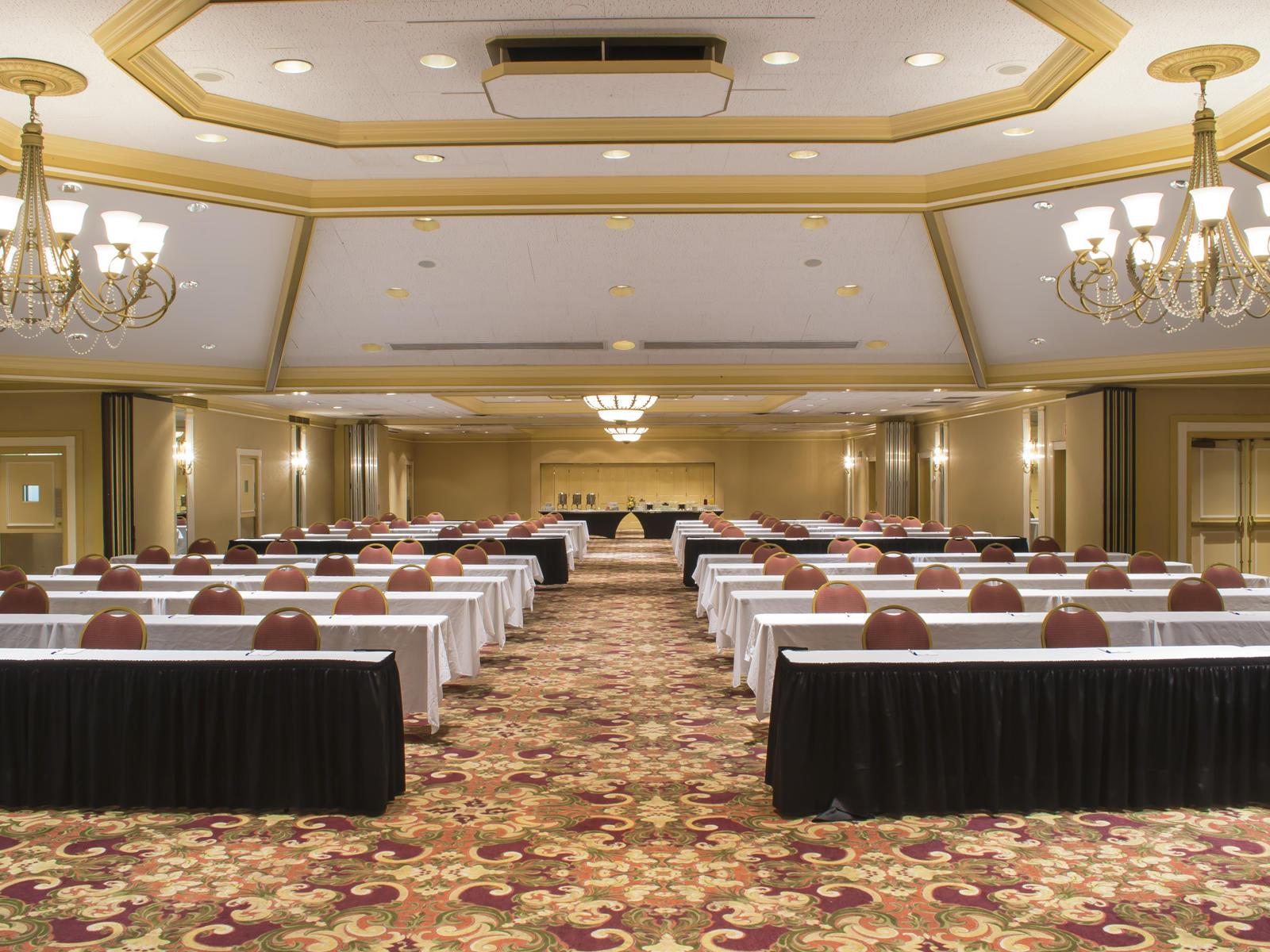 ballroom with seats