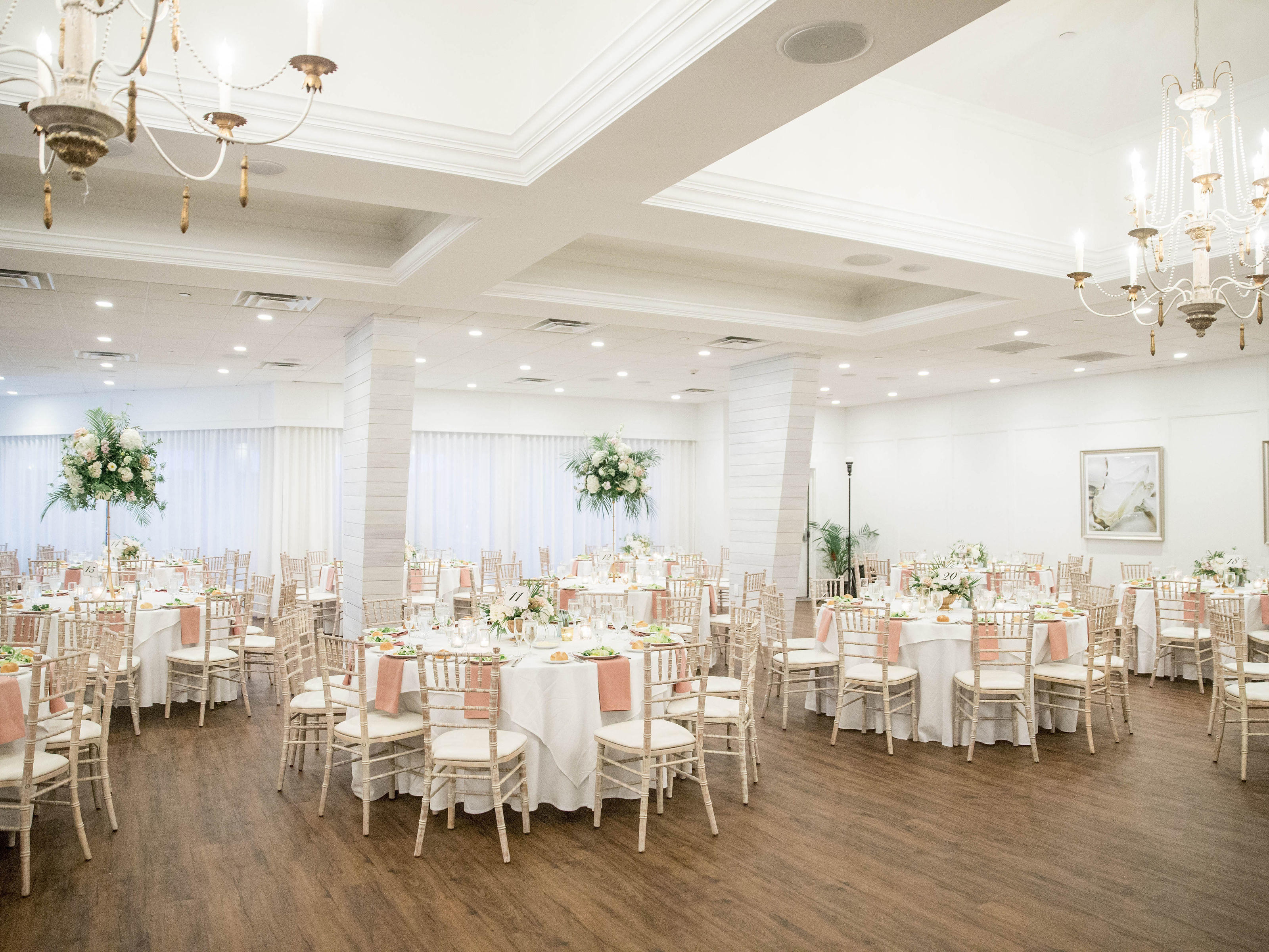 decorated banquet room