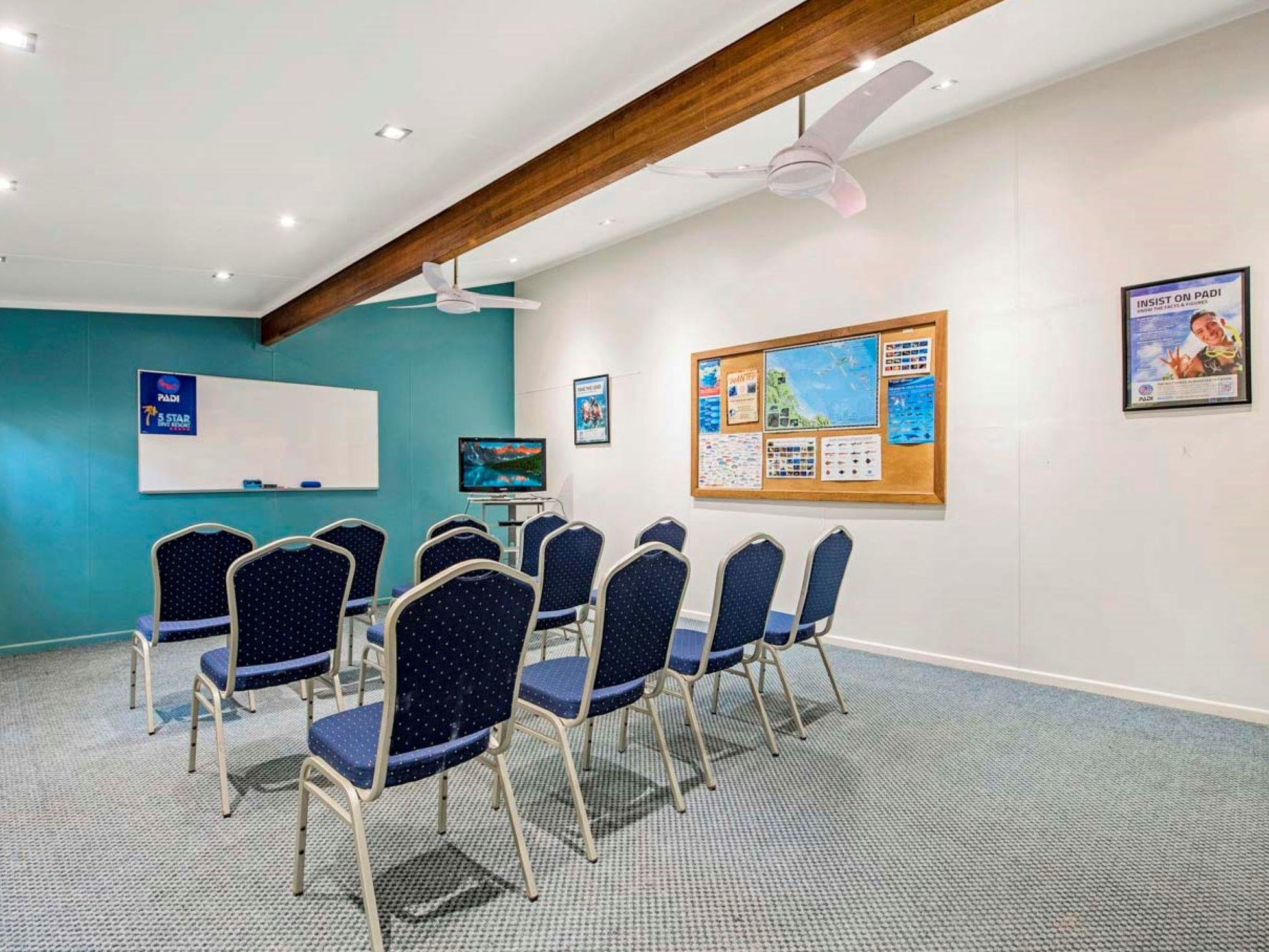 Marine Center Conference Room at Heron Island Resort in Queensland, Australia