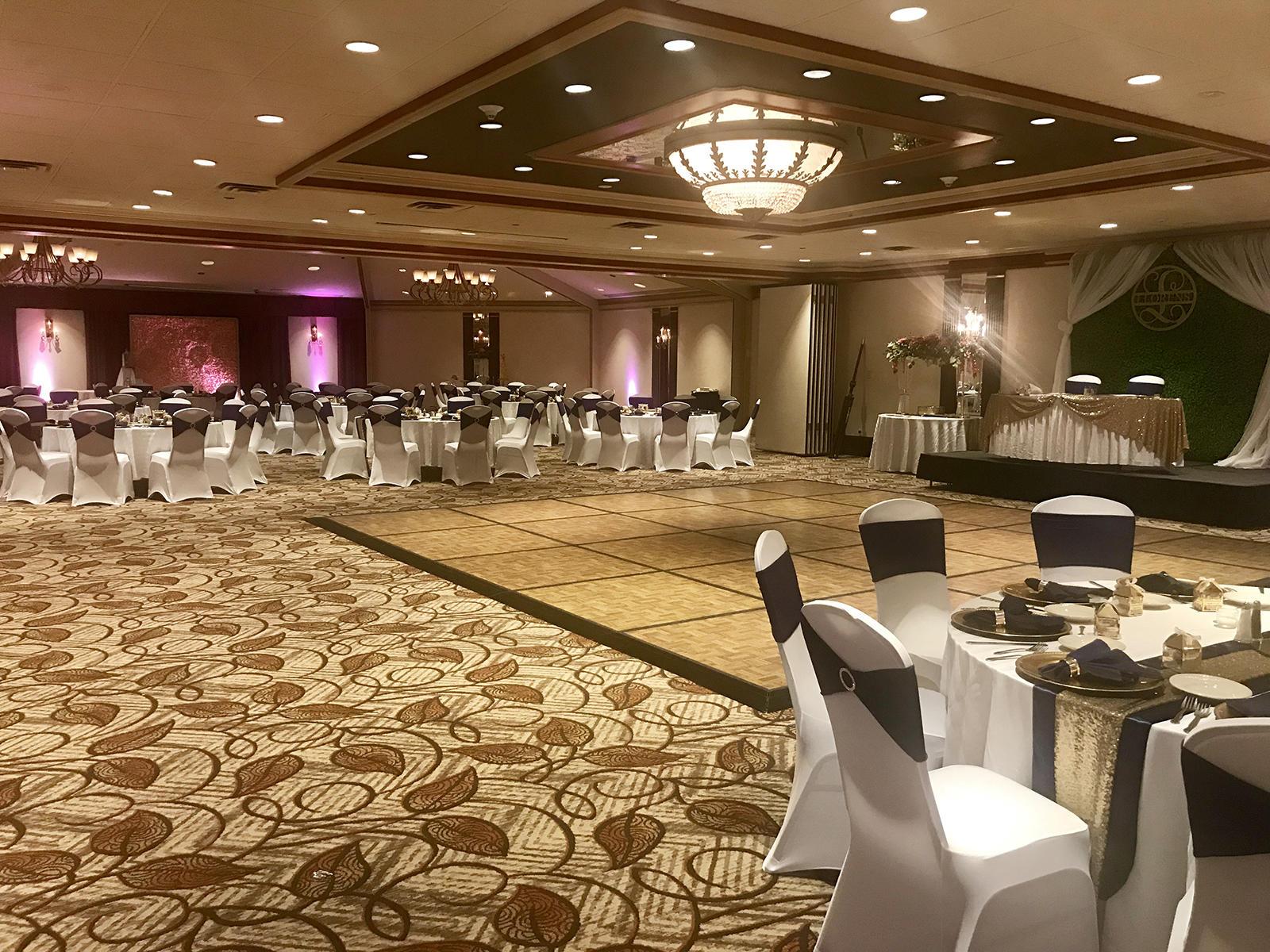 wedding reception venue with dance floor