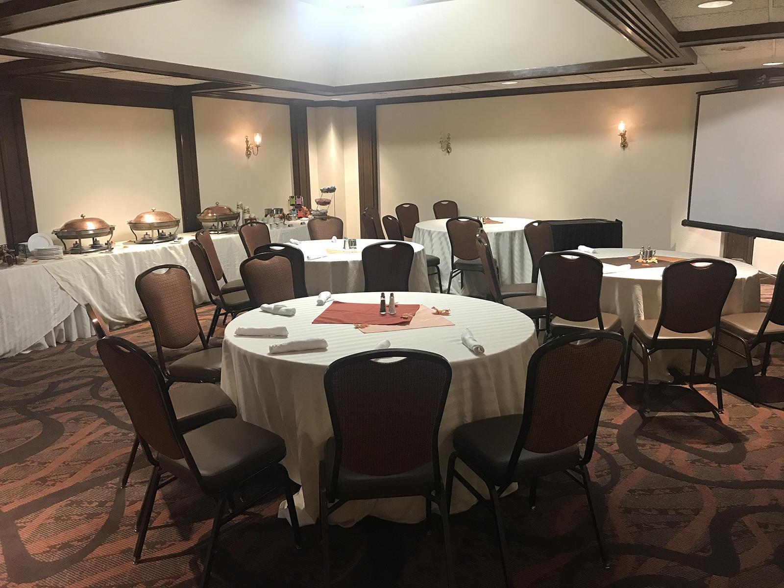 tables set up at ballroom