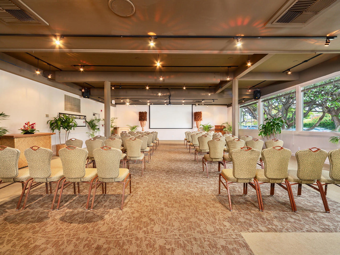 meeting room with chairs