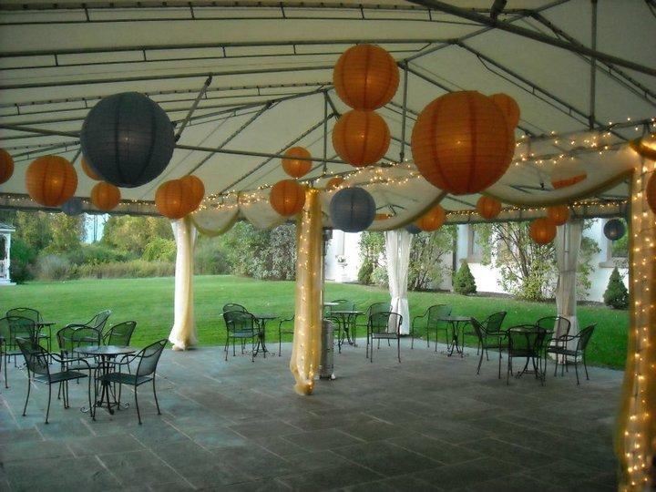Banquet Terrace with Hanging Lanterns