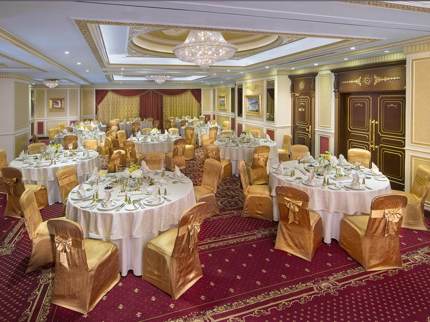 Ballroom at Royal Rose Hotel in Abu Dhabi, UAE