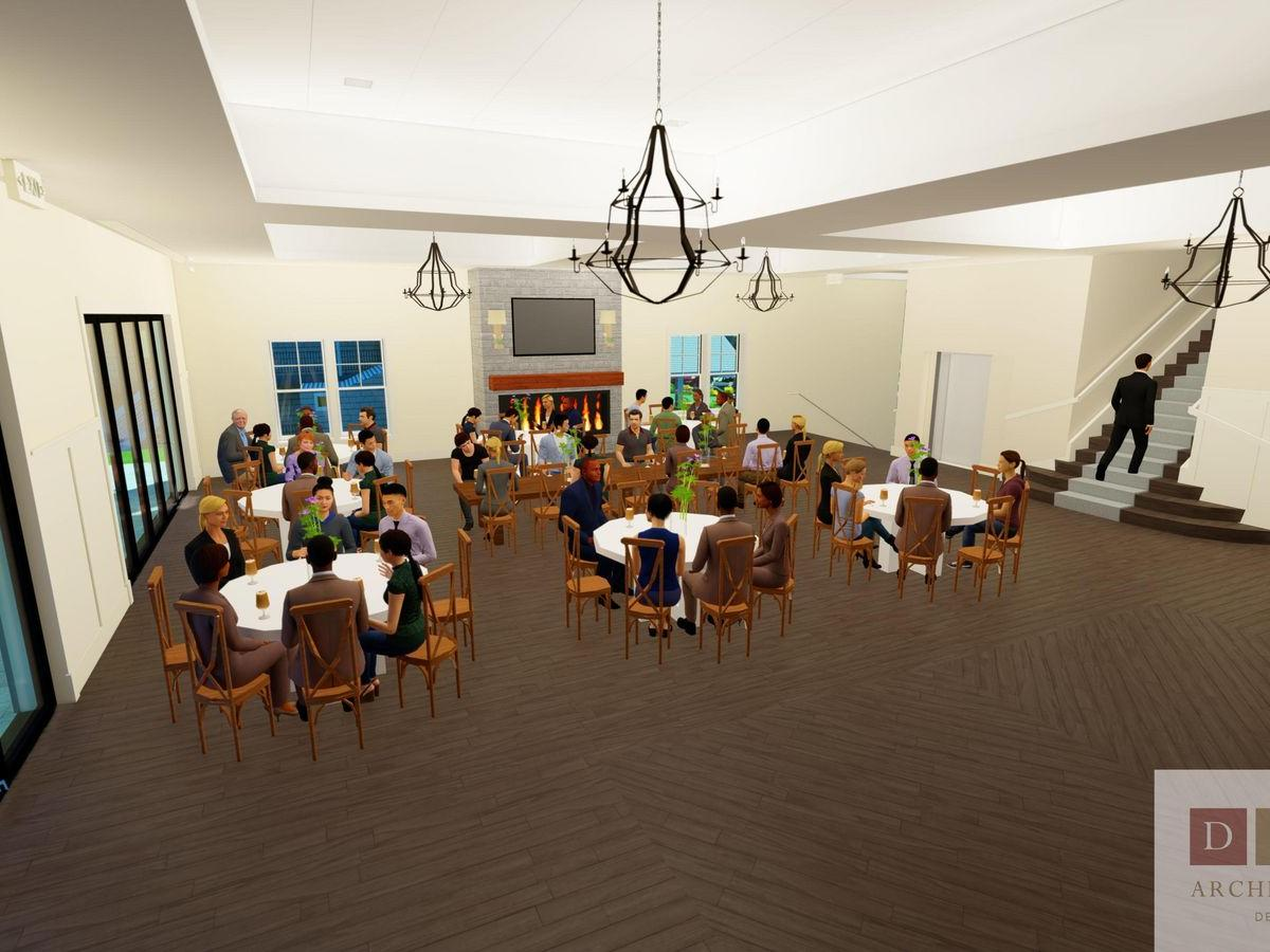 group of people in event space