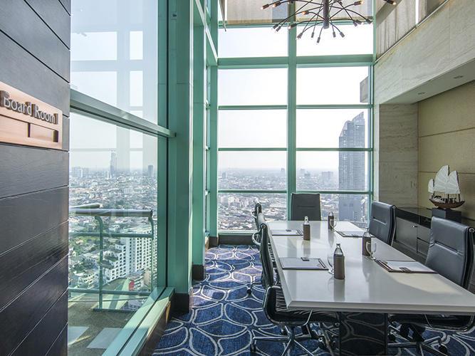 Boardroom with city view at Chatrium Hotel Riverside Bangkok